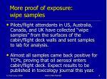 more proof of exposure wipe samples