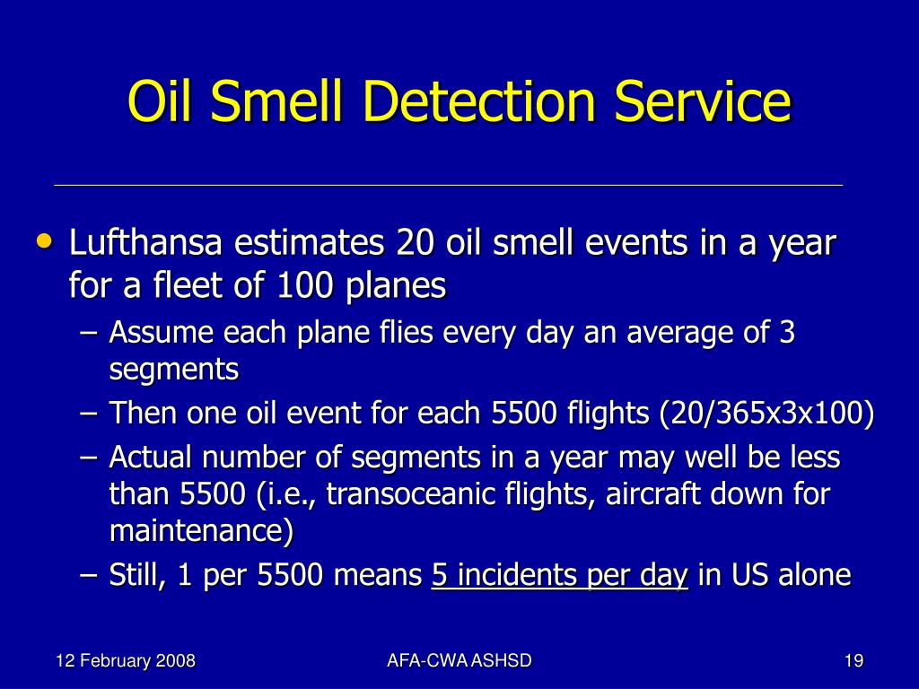 Oil Smell Detection Service