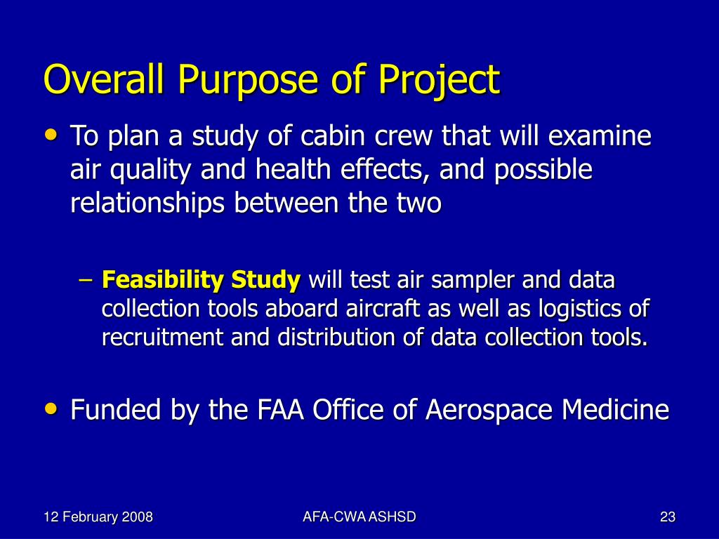Overall Purpose of Project
