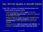 sec 815 air quality in aircraft cabins