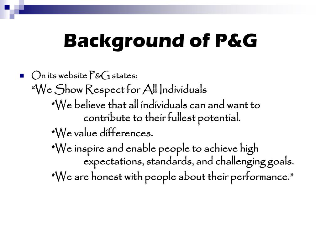Background of P&G