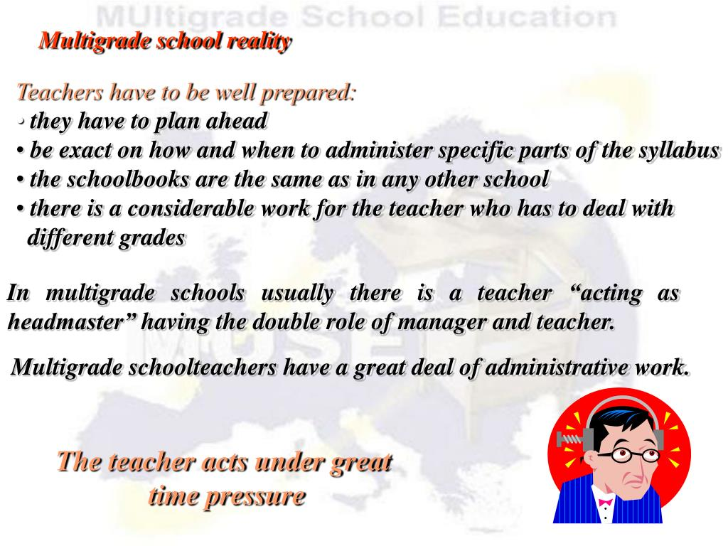 The teacher acts under great