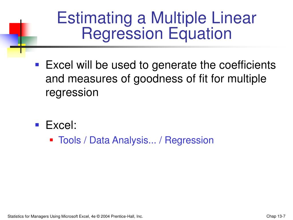 Estimating a Multiple Linear
