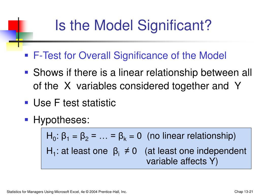 Is the Model Significant?