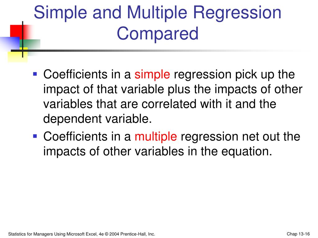 Simple and Multiple Regression Compared