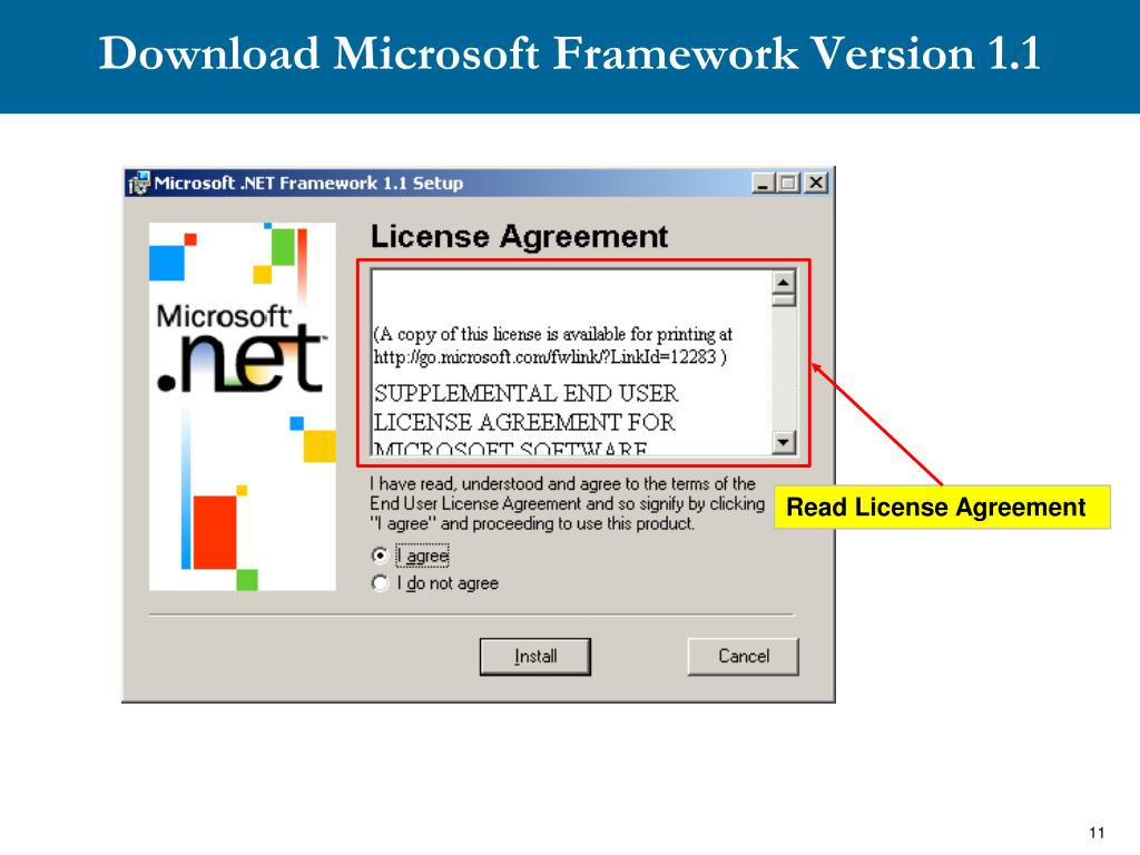 Download Microsoft Framework Version 1.1