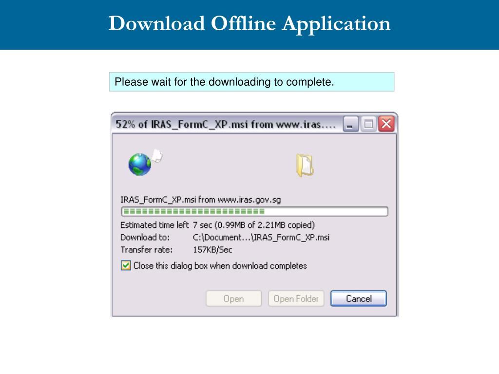 Download Offline Application