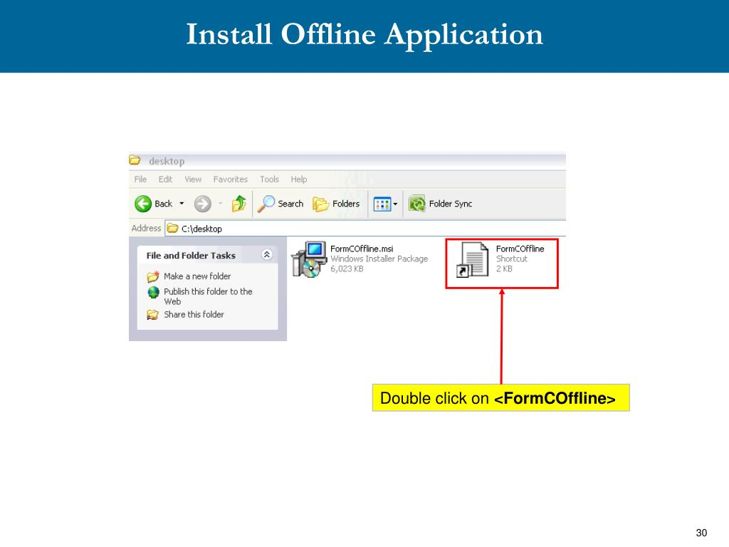Install Offline Application