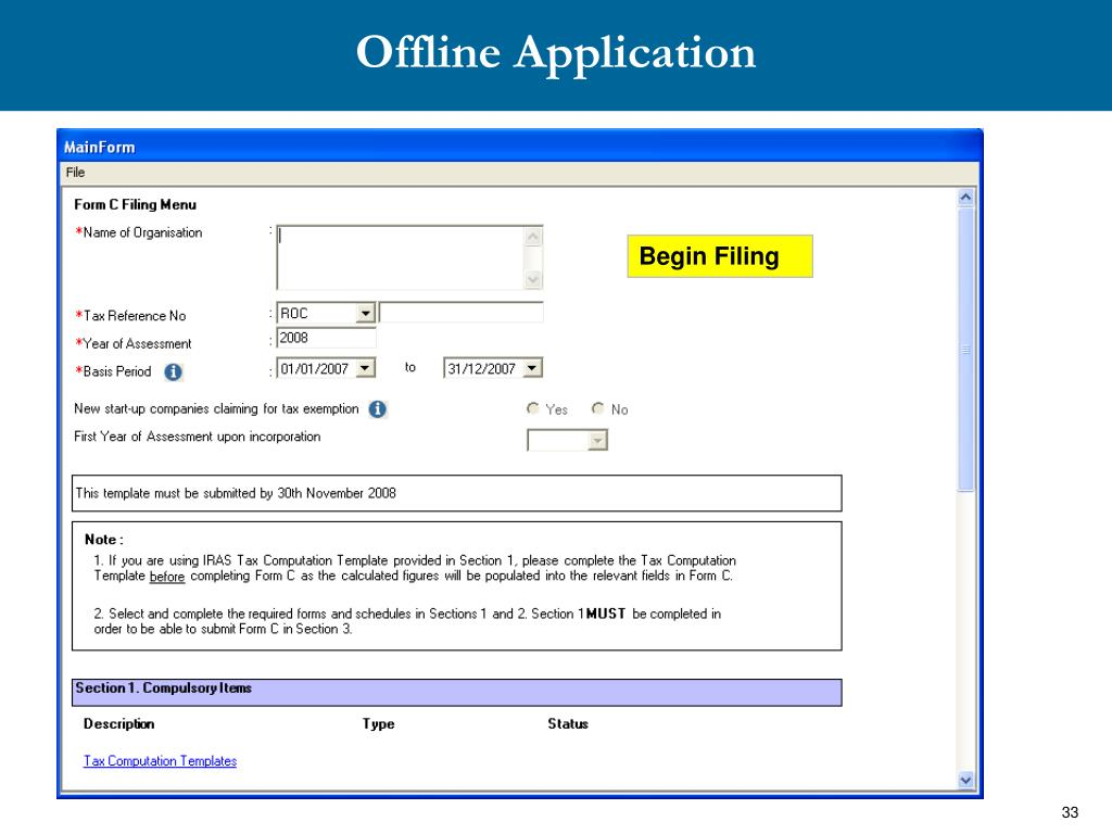 Offline Application