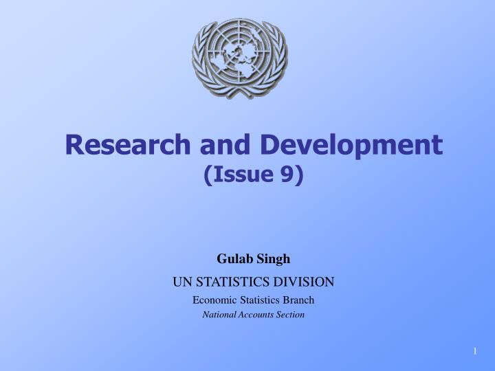 Research and development issue 9