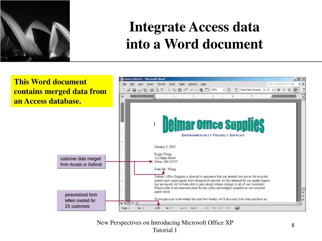 Integrate Access data