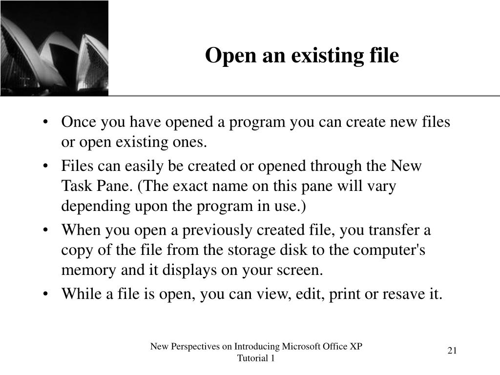 Open an existing file