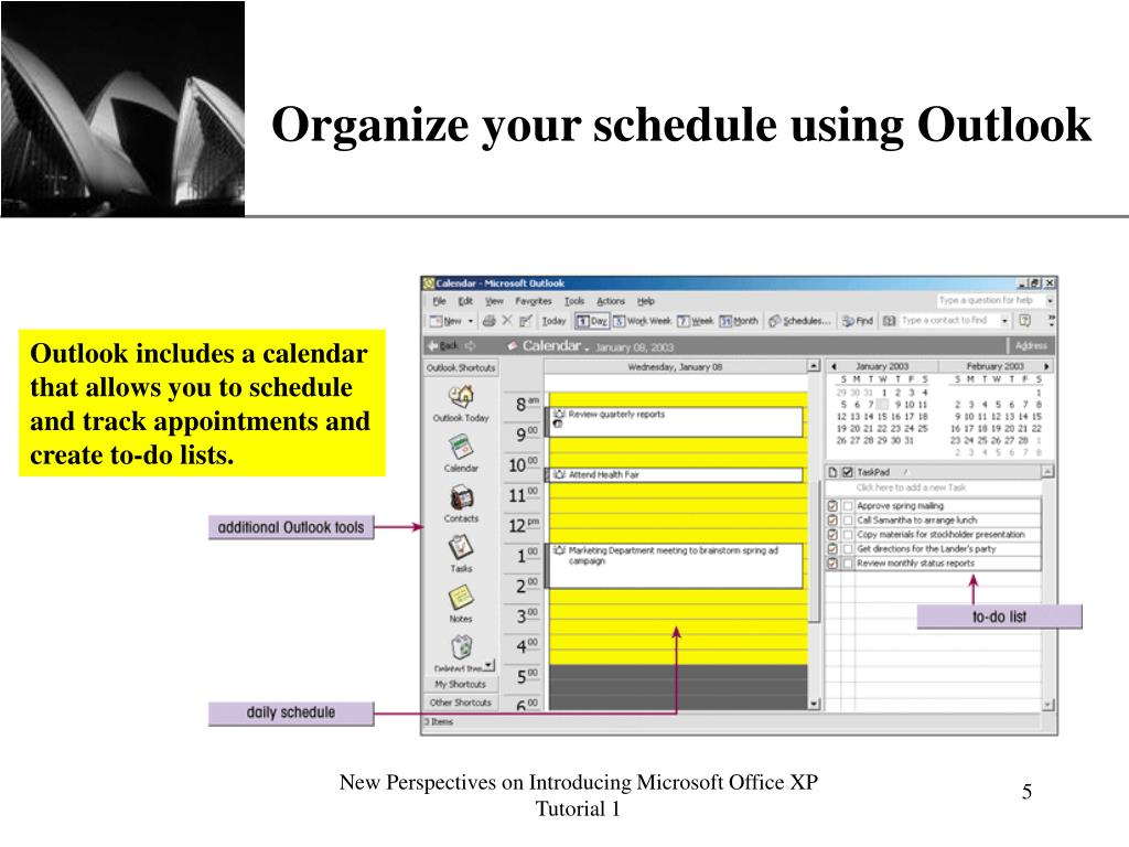 Organize your schedule using Outlook