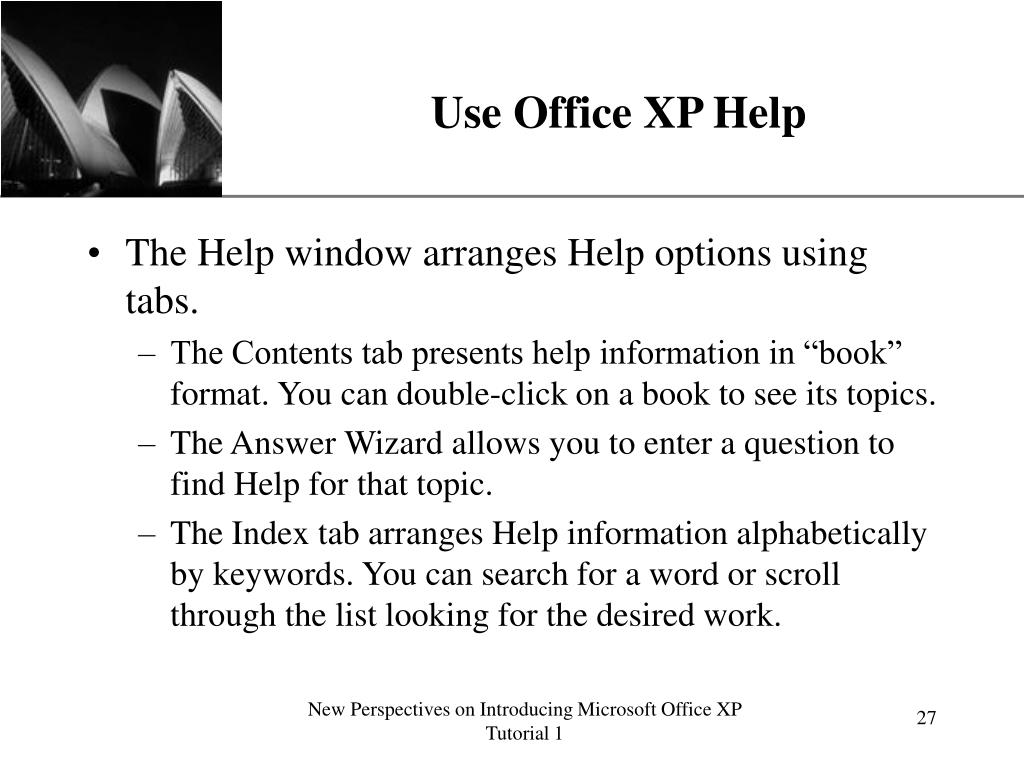 Use Office XP Help
