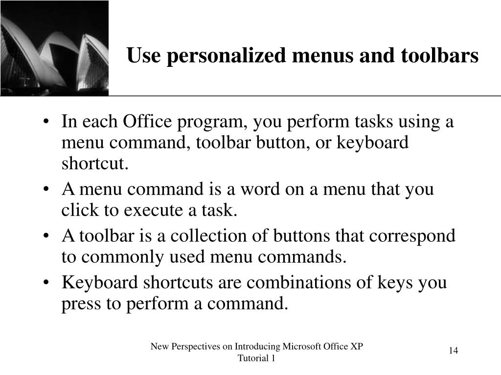 Use personalized menus and toolbars