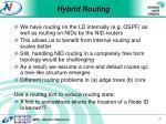 hybrid routing
