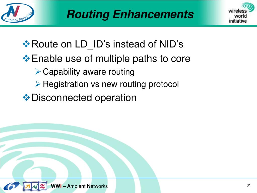 Routing Enhancements