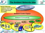 the ambient networks idea