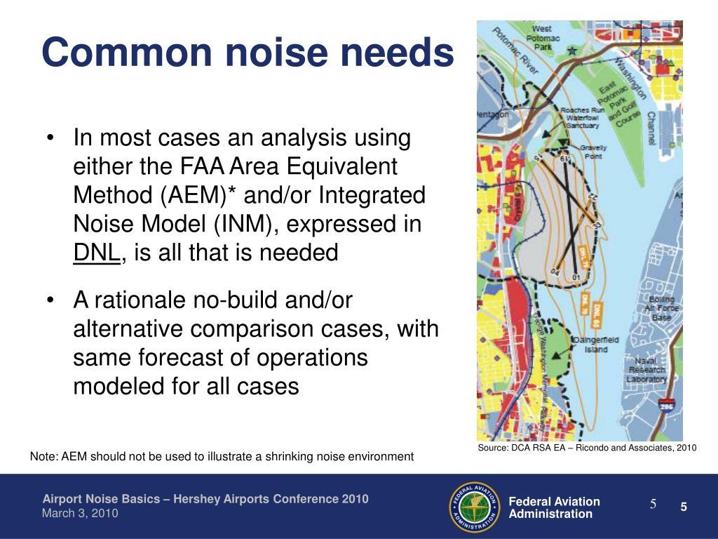 Common noise needs