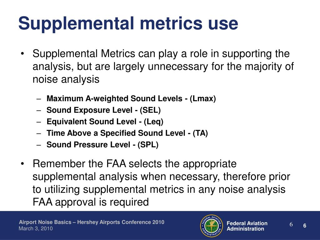 Supplemental metrics use
