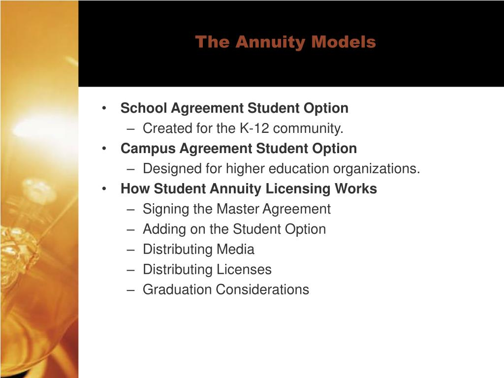 The Annuity Models