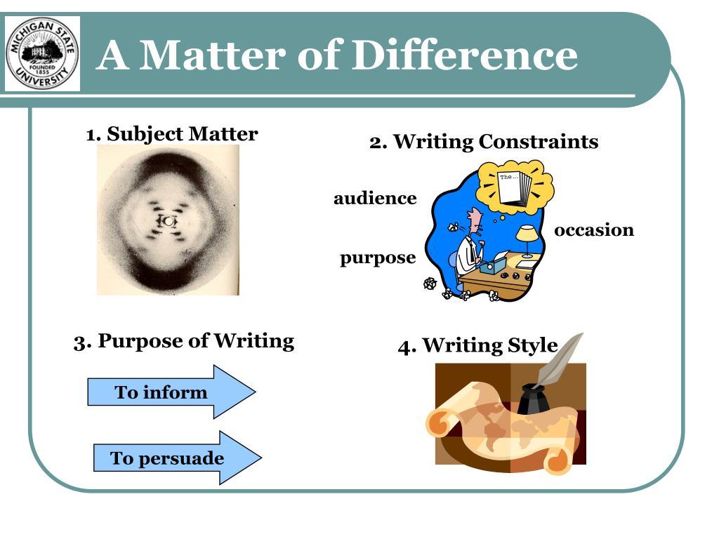 4. Writing Style