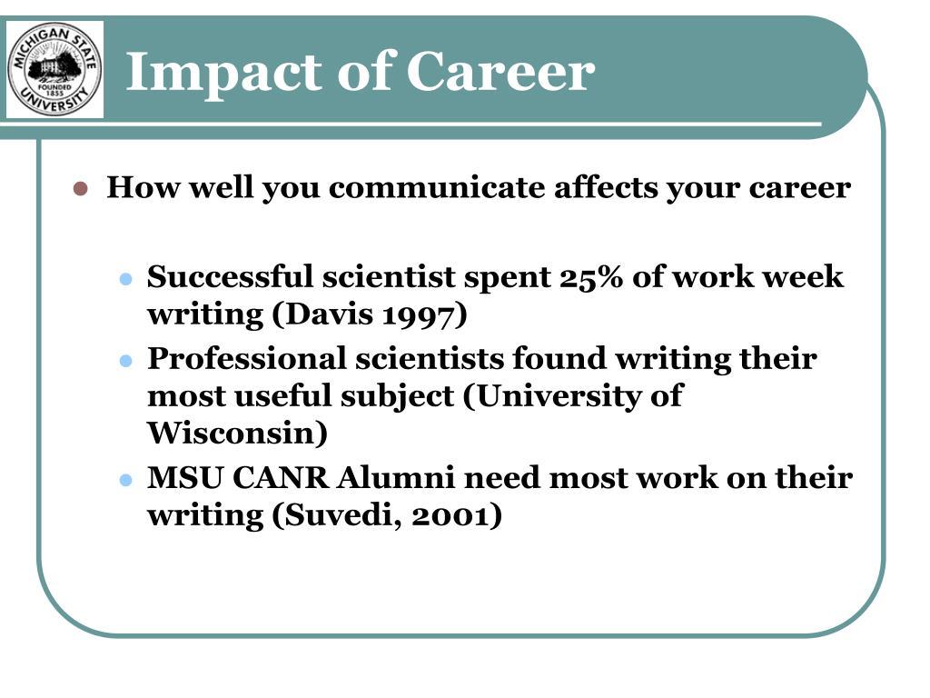 Impact of Career