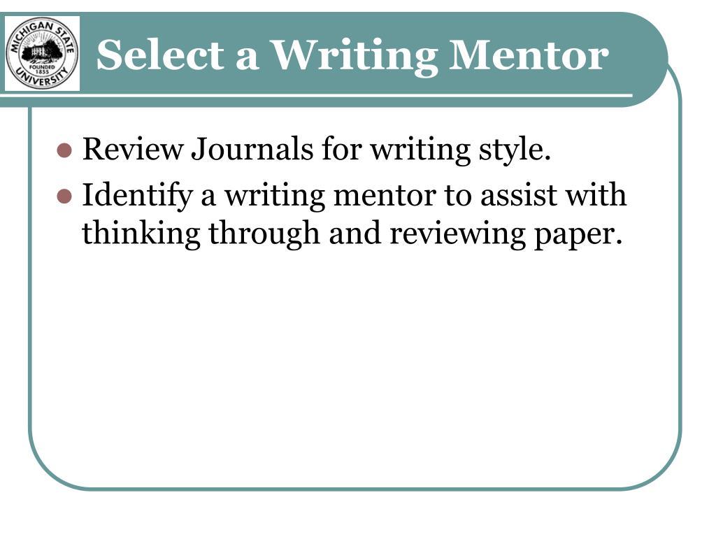 Select a Writing Mentor