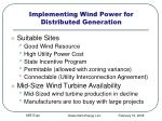 implementing wind power for distributed generation
