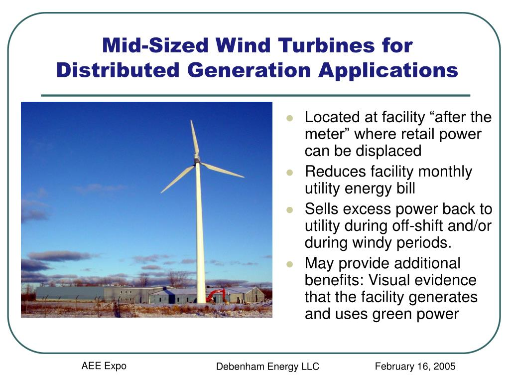 Mid-Sized Wind Turbines for Distributed Generation Applications