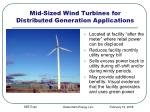 mid sized wind turbines for distributed generation applications
