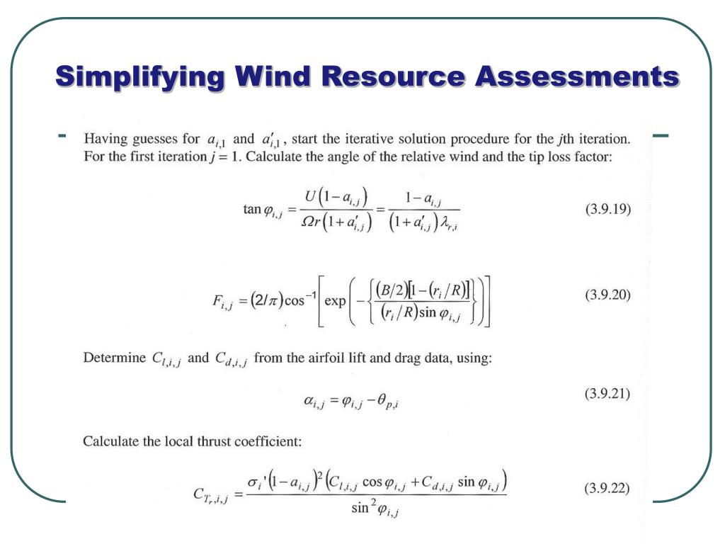 Simplifying Wind Resource Assessments