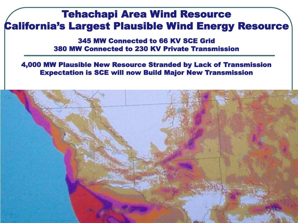 Tehachapi Area Wind Resource