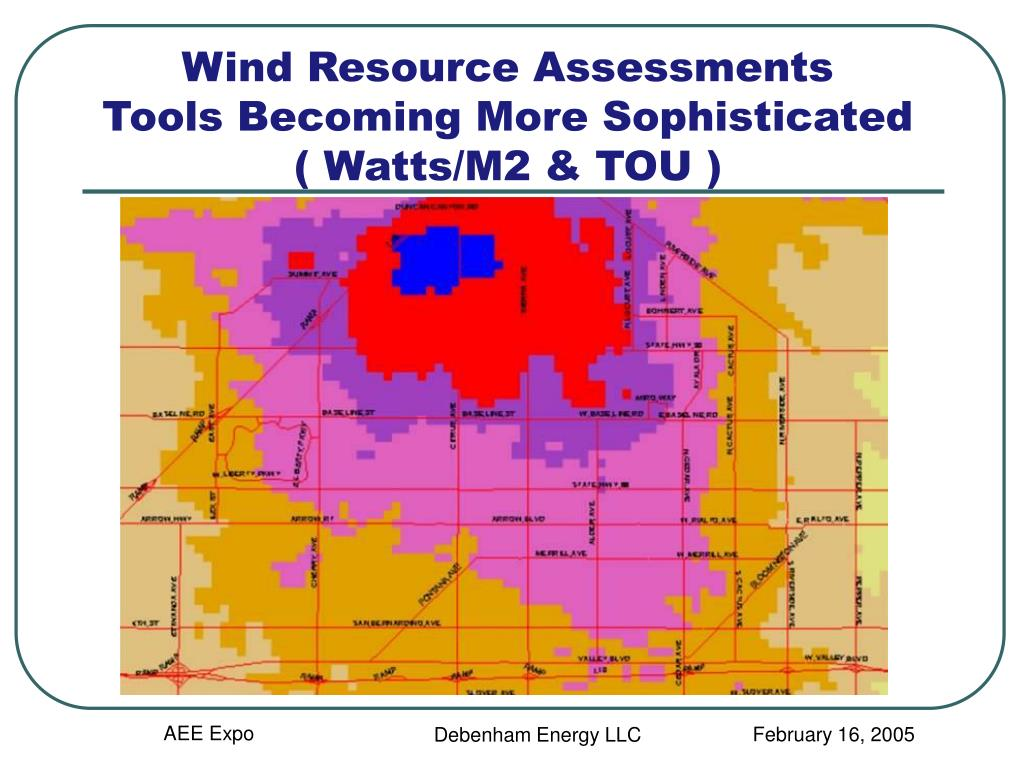 Wind Resource Assessments