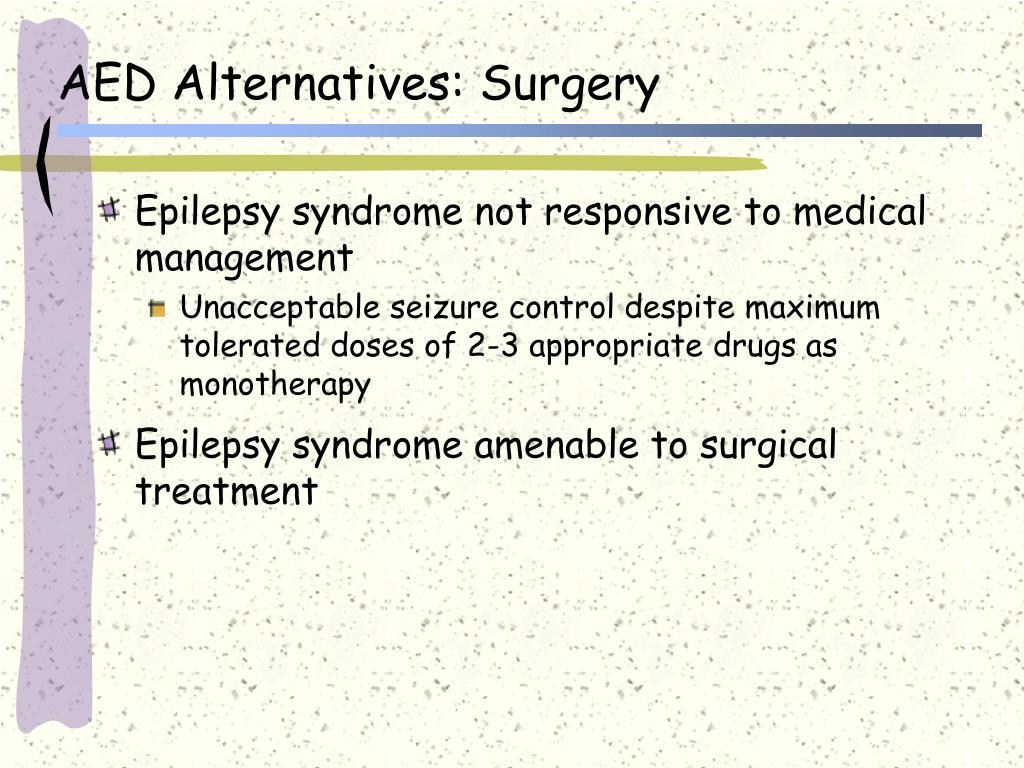 AED Alternatives: Surgery
