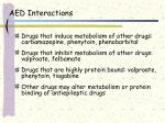 aed interactions