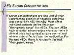 aed serum concentrations25