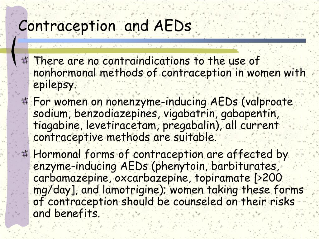 Contraception  and AEDs