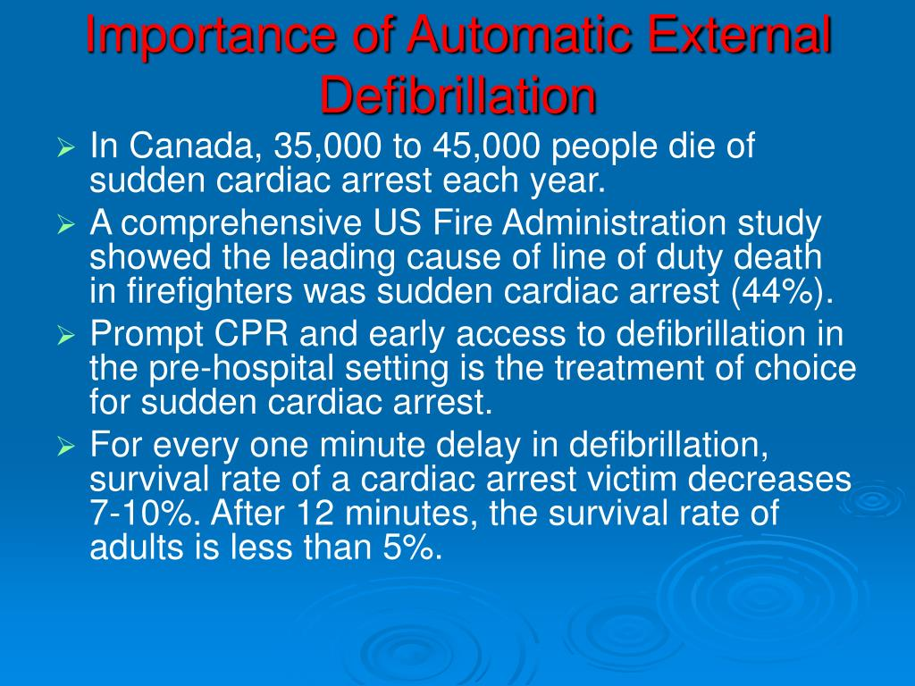 Importance of Automatic External Defibrillation