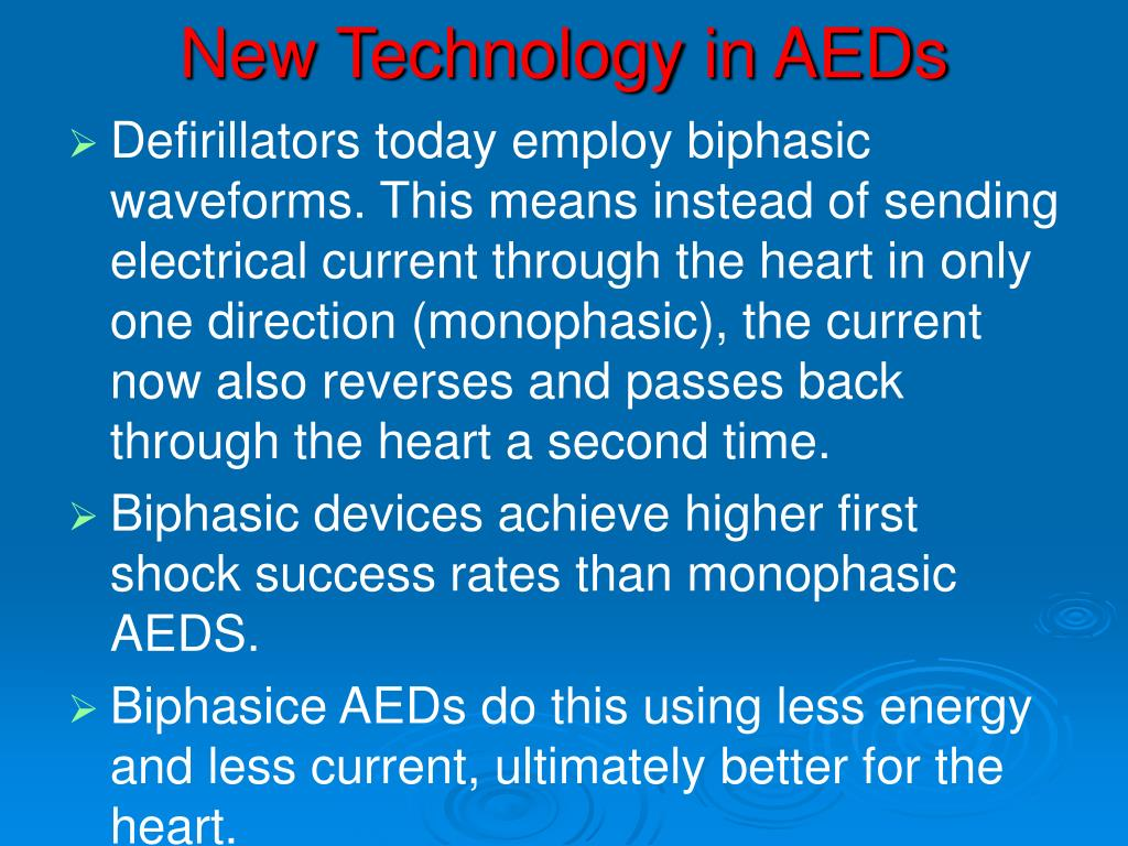 New Technology in AEDs