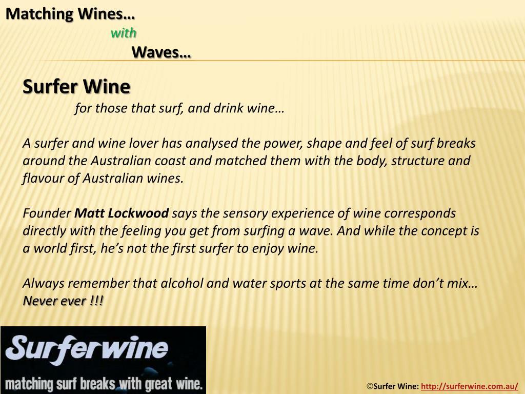 Matching Wines…