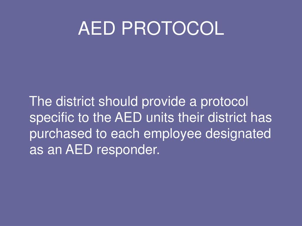 AED PROTOCOL