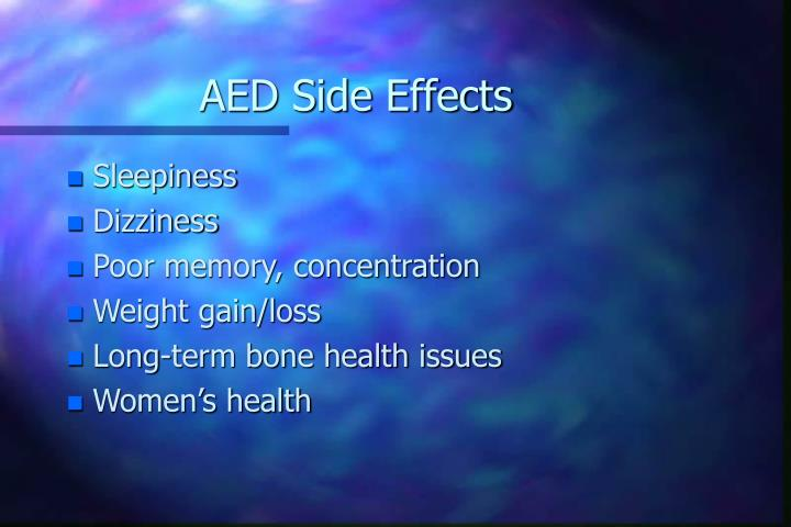 AED Side Effects