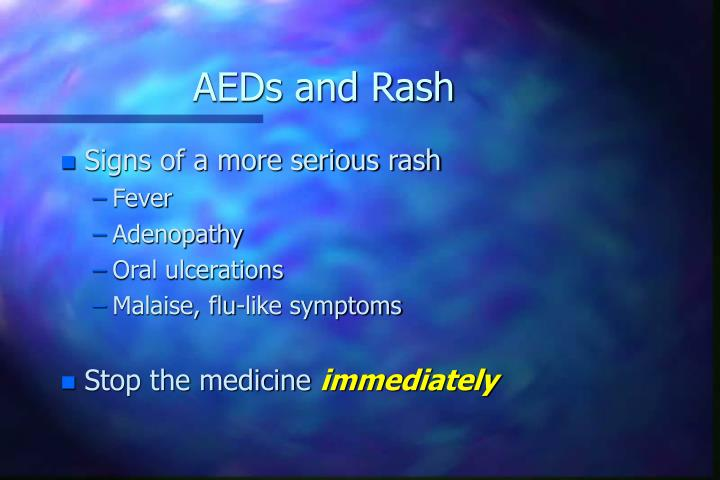 AEDs and Rash