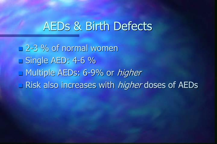 AEDs & Birth Defects