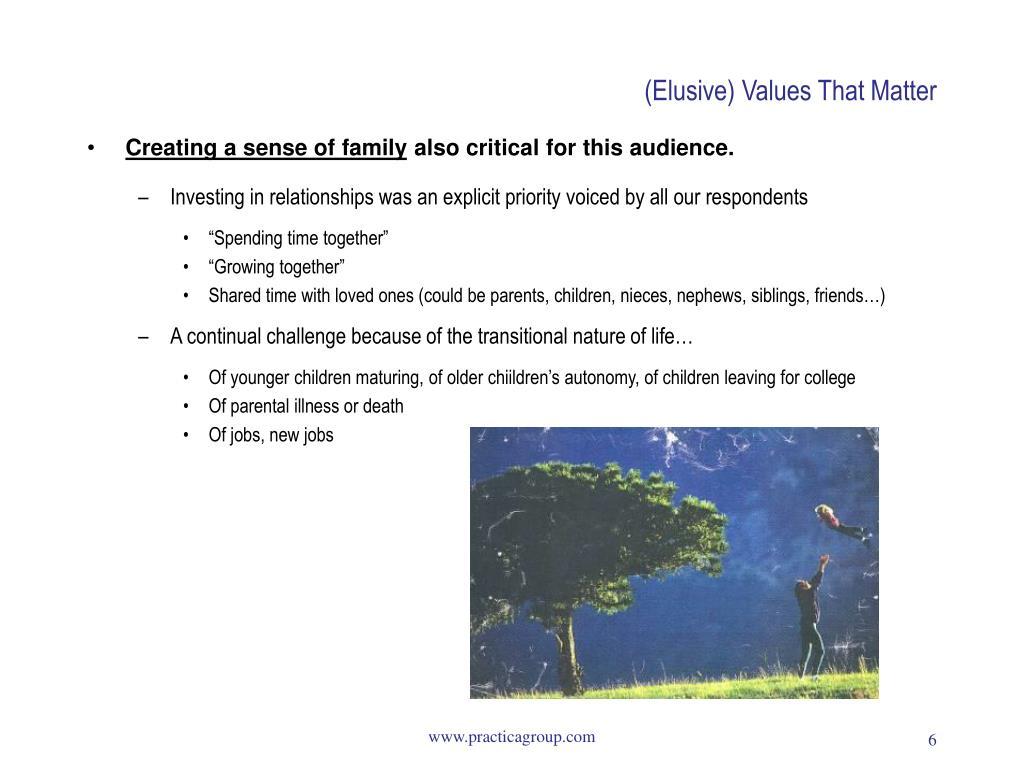 (Elusive) Values That Matter