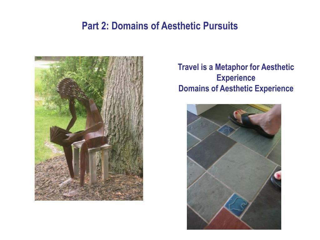 Part 2: Domains of Aesthetic Pursuits