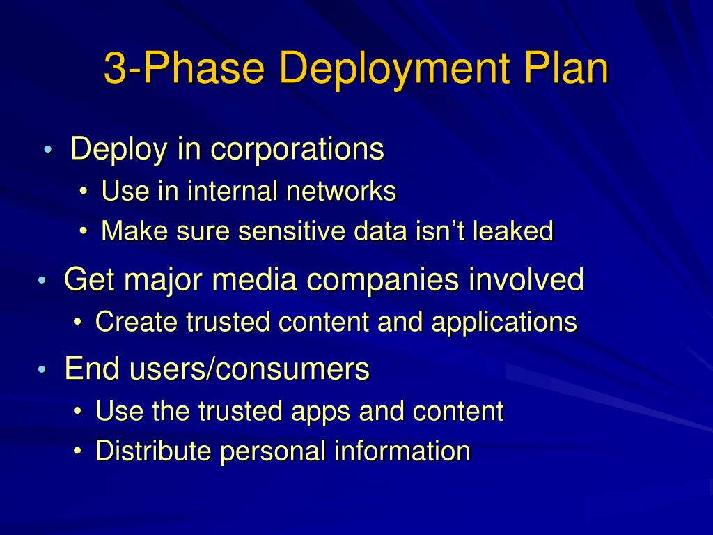 3-Phase Deployment Plan