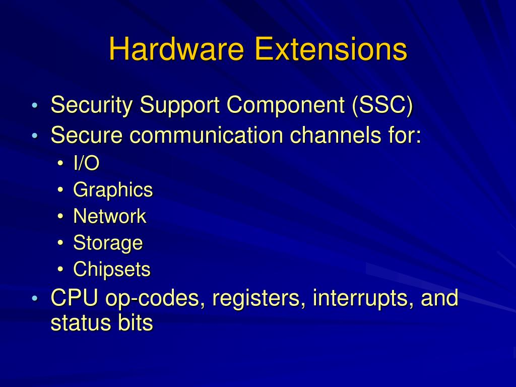 Hardware Extensions