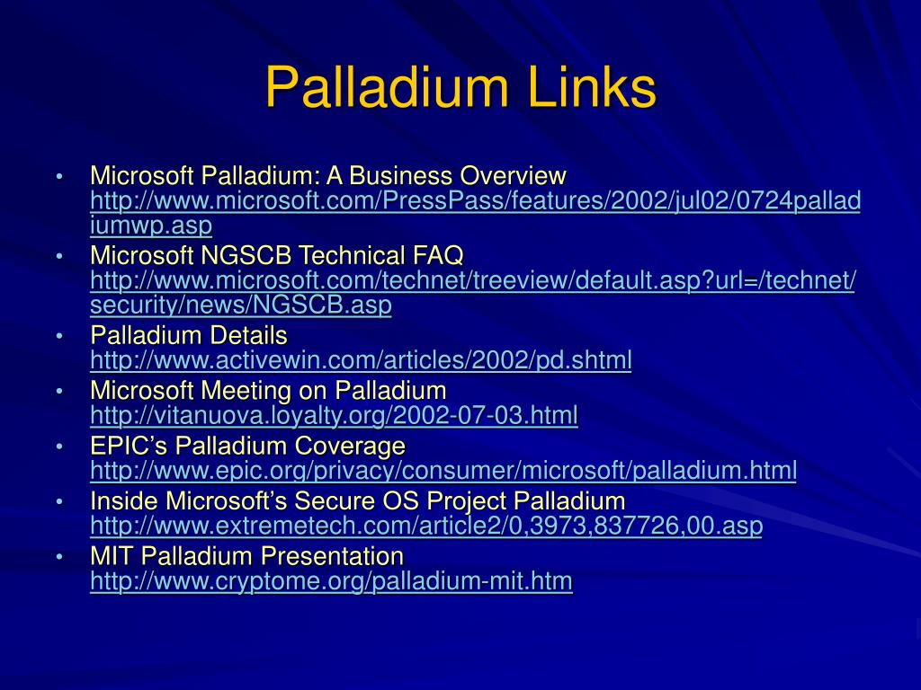 Palladium Links